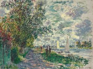Claude Monet - La Berge du Petit-Gennevilliers (1875)