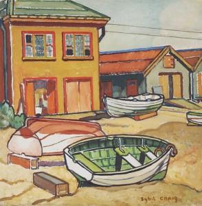 Sybil Craig - Boat Sheds 1950