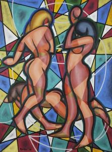 Weaver Hawkins - Three Nudes 1956