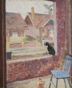 Roland Wakelin - Cat in the window 1929