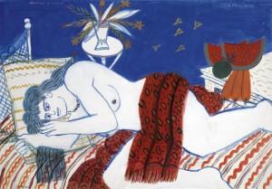 Alecos Fassianos - Reclining Nude (1979-04)