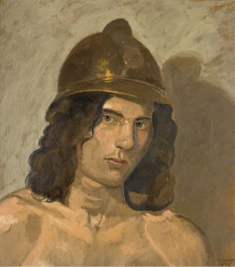 Yiannis Tsarouchis - Man with helmet (1975)