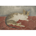Foujita - Cat in bed