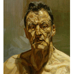 Lucian Freud - Reflection, self-portrait