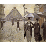 Gustave Caillebotte - A rainy day, study