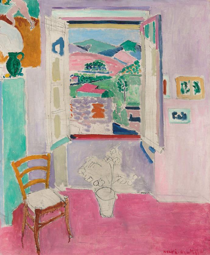 Art elements for Matisse fenetre ouverte