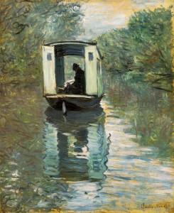 Monet - The Boat Studio (1876)