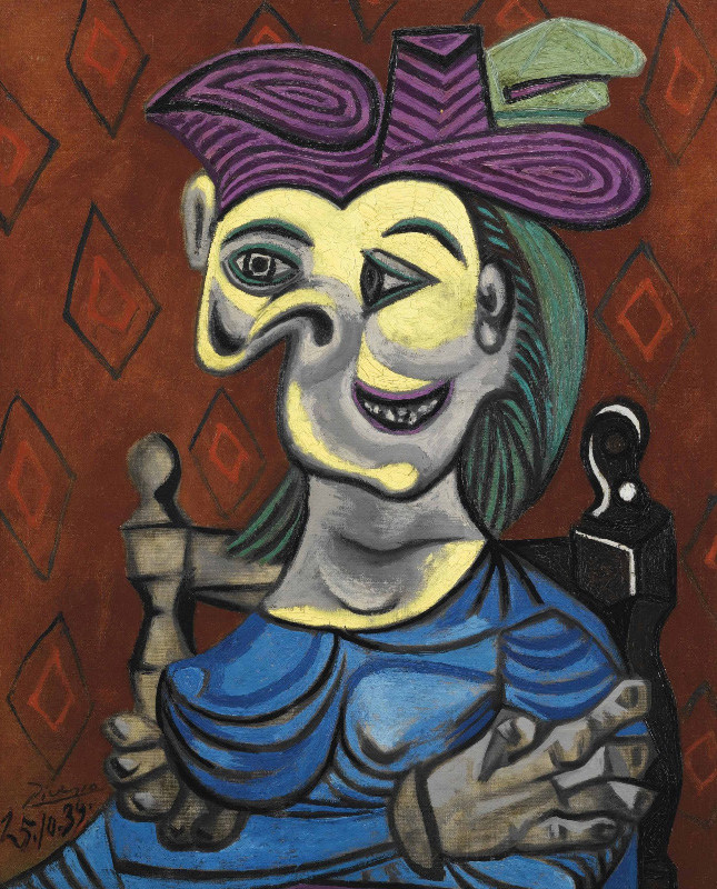 Woman In Blue Dress Painting Picasso