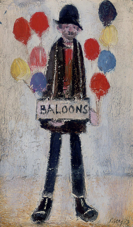 Balloon Seller Drawing Harold Riley Balloon Seller
