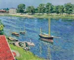 Gustave Caillebotte - La Seine à Argenteuil, bateaux au mouillage (1883) - oil on canvas - 60x73cm