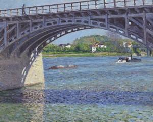 Gustave Caillebotte - Le pont d'Argenteuil et la Seine (1883) - oil on canvas - 65.5x82cm