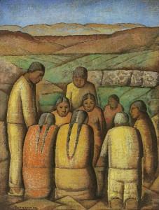 Ramos Martinez - El Pequeno Mercado (circa 1943)