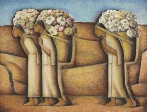Ramos Martinez - Cerca de Ixmiquilpan (1933) - gouache and crayon on paper - 54x 70cm