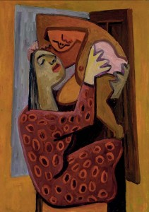 David Park -Mother with polka dot dress (c1930s)