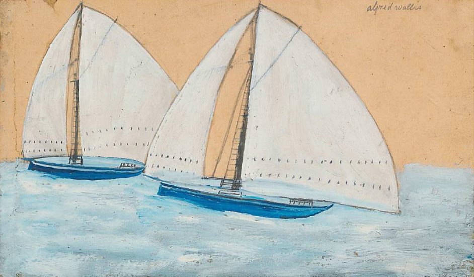 Alfred Wallis - Two sailing ships