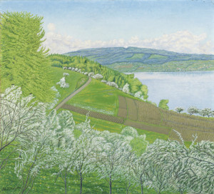 Adolf Dietrich - Spring time at Lake Constance (1932)