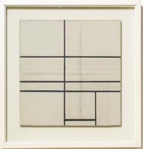 Piet Mondrian - Composition with double line (1934)
