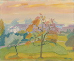Albert Pfister - tree autumn c1960 thumb