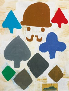 Donald Baechler - Composition with hat (1990)