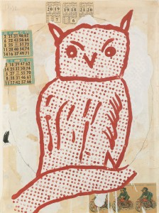 Donald Baechler - Owl (Further Lane) -1992