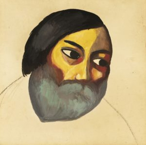 Kazimir Malevich - Head of a Peasant (circa 1911)