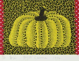 Yayoi Kusama - Pumpkin 1982 - Lithograph and collage 15x22cm