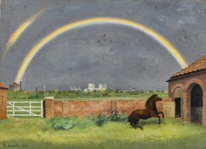 Richard Eurich - Rainbow and Pony, York 1951